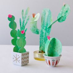 Handmade succulents in five ways – Cactus Kids Crafts, Diy And Crafts Sewing, Crafts For Teens, Decor Crafts, Craft Projects, Preschool Crafts, 3d Templates, Cactus Craft, Papier Diy