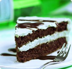 Mint Chocolate Double Layer Cake - includes a secretly healthy frosting recipe: http://chocolatecoveredkatie.com/2014/03/0...