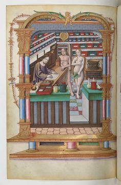 1501-1600: Christ as apothecary from the Chants royaux sur la Conception, couronnés au puy de Rouen