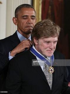 U.S. President Barack Obama presents the Presidential Medal of Freedom to Robert Redford during an East Room ceremony at the White House November 22, 2016 in Washington, DC. The Presidential Medal of Freedom is the highest honor for civilians in the United States of America.