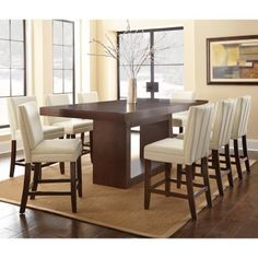 Steve Silver Antonio 9 Piece Counter Height Dining Table Set with Bennett Chairs