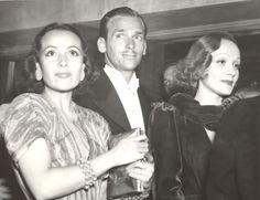 Dolores Del Rio, Douglas Fairbanks Jr. & Marlene Dietrich, 1937