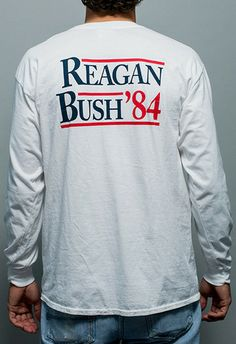 Reagan Bush 84 Long Sleeve Tee Shirt