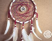 Dream Catcher Night Sky With Carved Shell Amulet by bohonest