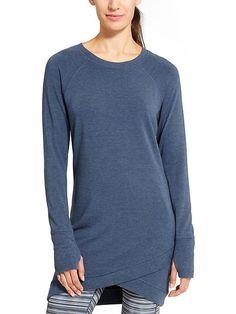 Athleta, Criss Cross (sweatshirt) dress, Iron Blue Heather, L, $89