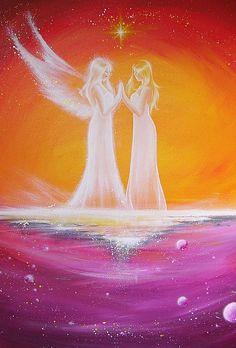 Beperkte engel kunst foto kosmische touch van HenriettesART op Etsy