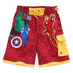 Disney Store Avengers Pool resources Swim Trunks for Boys Size 4 Red *** Be sure to check out this awesome product.