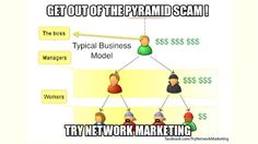 Here's one for all the network marketers out there ! Stay tuned for lots more like this along with blog posts on many of the misconceptions that people have about this industry  http://makipetrov.wordpress.com/2013/03/29/the-pyramid-scam/  #network #marketing #mlm #direct #sales #business #from #home #fun #business