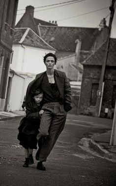 Mariacarla Boscono by Peter Lindbergh for Vogue Italia Sept 2014