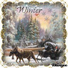 Schlittenfahrt Christmas Scenes, Cozy Christmas, Vintage Christmas, Office Birthday Decorations, Snow Gif, Painted Pinecones, Gifs, Winter Magic, Glitter Graphics