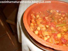 Receita de Caçarola de Grão de Bico e Legumes .:. Kitchenet .:. Livro de culinária do aeiou