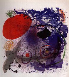 Batement II by Joan Miró, 1968. Oil on canvas.