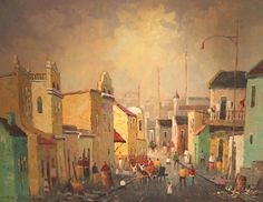South African Contemporary and Upcoming Artist & Old Masters Art Gallery. Upcoming Artists, South African Artists, Veronica, Art Gallery, Contemporary, Street, Painting, Inspiration, Biblical Inspiration