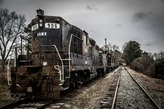 Retired CSX Engines - This is the other end of the chain of retired CSX engines I shot in Walton County, GA.