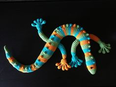 Gecko completed! The original pattern can be found here. He sits on the low cabinet in our living room but my partner says we might find him in another place the following morning as he's sure he'l...