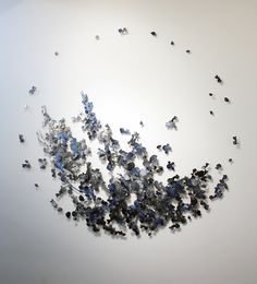 Constellation oil on aluminum 72 x 72 x 2 inches edition of 2 2013