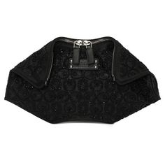 Alexander McQueen 'De Manta - Small' Macrame Embroidered Clutch ($1,227) ❤ liked on Polyvore featuring bags, handbags, clutches, hand bags, embroidery handbags, embroidered purse, man bag and macrame purse