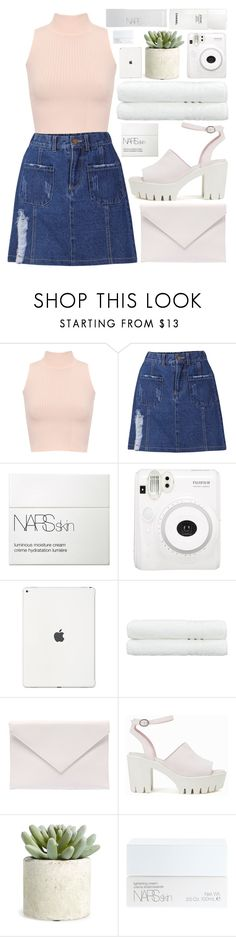 """""""a touch of blush"""" by charli-oakeby ❤ liked on Polyvore featuring WearAll, NARS Cosmetics, Fuji, Linum Home Textiles, Verali, Nly Shoes, Allstate Floral and Chanel"""