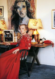 Bette Davis photographed by Terry O'Neill, 1988.