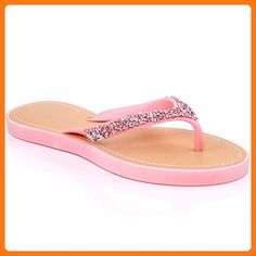 dc6f5187f821 Unze Womens Flats Glitter Adorned  Wini  Thong Slippers - F0806 ( Partner  Link). Anna Eylson · Flip-Flops