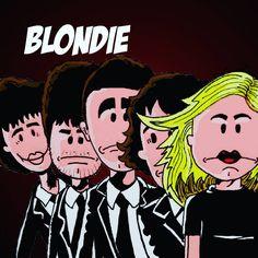 Music Parody Collection Blondie -  Blondie  #inktober #inktober2016 #Music #Cover #parody  #Color #debbyharry #blondie #rock #heartofglass #muppetshow #coverlp #parody #blood #caricature #discomusic #newwave #beat #punk #drum