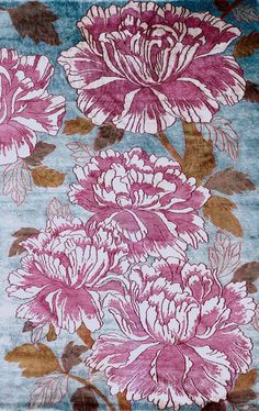 Pivoines, shown in 6' x 9', viewed from above. #CariniLang