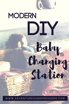 Modern DIY Baby Changing Station. Easily transform everyday furniture into a stylish baby changing table. Click to see how we did it!