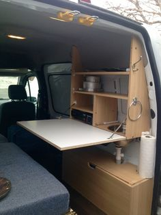Not a narrowboat, but it'll still work - Camping - Minivan Camping, Camping Car Van, Camping Hacks, Camping Storage, Truck Camping, Kombi Trailer, Camper Trailers, Bus Camper, Rangement Caravaning