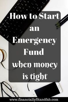 How to Start an emergency fund when money is tight