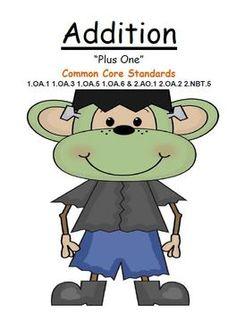 FREEBIE! THREE GAMES IN ONE! Addition Plus One Center Game Subtraction Minus One Center Game Addition and Subtraction MIXED Plus One/Minus One Center Game Common Core Standards For Addition and Subtraction 1.OA.1 1.OA.3 1.OA.5 1.OA.6 & 2.AO.1 2.OA.2 2.NBT.5 * 21 PAGES of Halloween Dressed Up Monkey Fun! $0