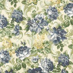 Beige/Tan, Blue-Dark, Blue-Light, Gold/Yellow, Grey/Silver, Green-Dark Marine, Outdoor/Indoor, Print  Upholstery Fabric - K6425 GARDEN