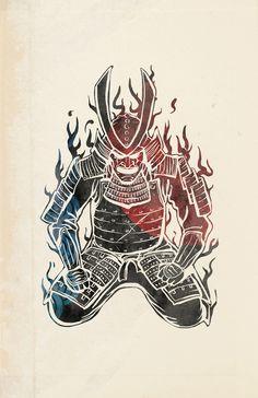 Samurai Print by Mikio Murakami