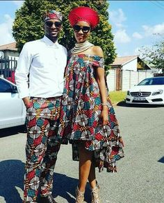 Looking at different dress styles for Couples African Shweshwe Designs For Wedding, it is easy to see why people continue to appreciate African wear. Couples African Outfits, Couple Outfits, African Attire, African Wear, African Women, African Style, African Print Dresses, African Fashion Dresses, African Dress