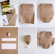 paper bag turkey tutorial
