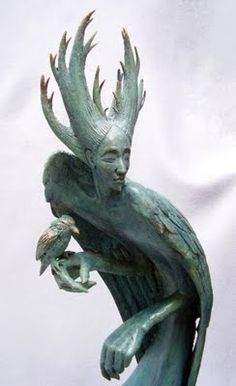 """Fidelma Massey  """"Spirit Bird"""" - follow the link to see the other sculptures, they are wonderful, amazing, mythical, magical, inspiring"""