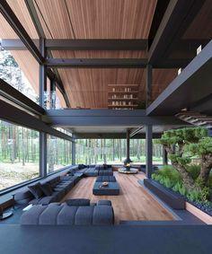 What do you think of this interior design? Dream House Interior, Luxury Homes Dream Houses, Dream Home Design, Modern House Design, Modern Houses, Loft Design, Design Case, Design Model, Black Interior Design