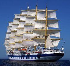 The Royal Clipper at full mast Royal Clipper, Old Sailing Ships, Full Sail, Love Boat, Out To Sea, Sail Away, Tall Ships, Water Crafts, Paris Travel