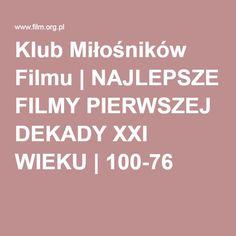 Klub Miłośników Filmu | NAJLEPSZE FILMY PIERWSZEJ DEKADY XXI WIEKU | 100-76
