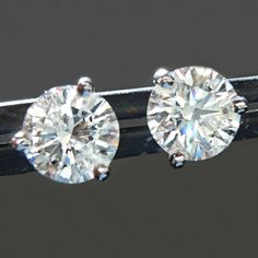 2.25 Ct Princess Canary Earrings Studs Cut Screw Back Real Solid 14K Yellow Gold
