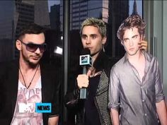 30 Seconds To Mars Bring Robert Pattinson Into Their Interview - MTV i love it when they're silly