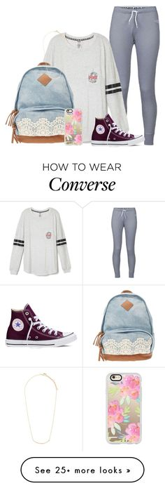 """""""Day 1: School"""" by dejonggirls on Polyvore featuring The North Face, Converse, Casetify, Forever 21 and mmprepadevocontest"""
