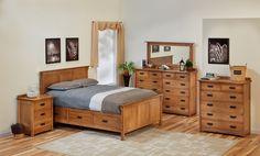 American Craftsman II Queen Storage Bed Suite