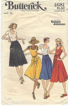 70s Betsey Johnson Butterick Sewing Pattern 4681 by CloesCloset