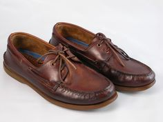 SPERRY TOP-SIDER Brown Leather Men's Boat Shoes Sz 13 M #SperryTopSider #BoatShoes