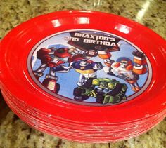 DIY Rescue Bot plates - Rescue Bots - How to make your own plates!!!
