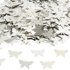 Silver Butterflies Table/Invite Confetti - Wedding Supplies - Parties & More - Used to add sparkle to your tables or as a surprise inside cards/invitations. Table Confetti, Wedding Confetti, Wedding Receptions, Wedding Table, Butterfly Table, Centre Pieces, Wedding Anniversary, Invitations, Invite