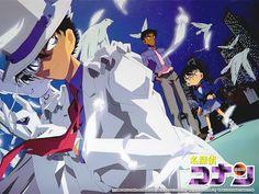 Kaito Kid, Conan and Heiji