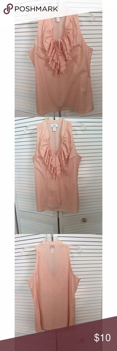 Blush Ann Taylor Loft Ruffle Shirt Blush Ann Taylor Loft Ruffle Shirt. All prices are negotiable but please use the OFFER button in order to make me a different offer. I will do bundles just let me know what you are interested in but NO trades 😀 LOFT Tops