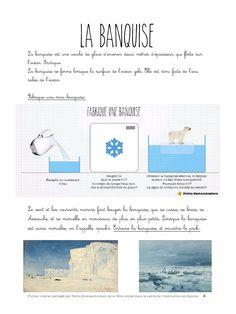 Fabriquer une banquise... Aussi tout un document sur le Pôle Nord Winter Activities, Activities For Kids, Travel Around The World, Around The Worlds, 7 Continents, Winter Theme, Techno, Alaska, Animation