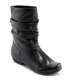 Dansko Olga Flat Leather Boots #Dillards